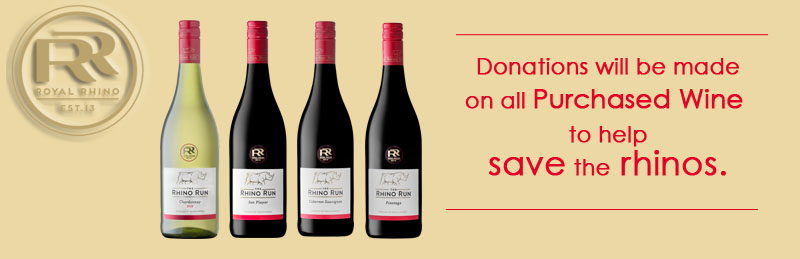 The Rhino Run wine range