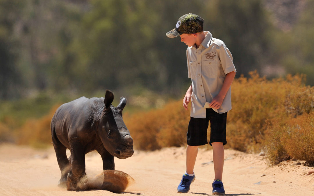 Hunter and Osita inspire company to fight rhino poaching